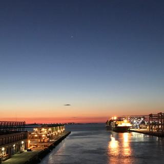 Sunrise in Boston docks Sept 2017_edited