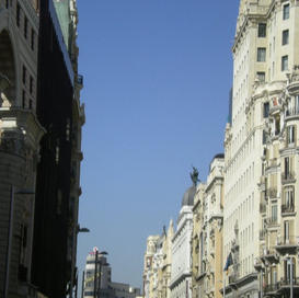 Barcelona street view of great looking b