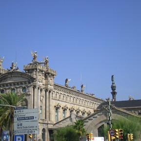 Barcelona building at the waterfront.JPG