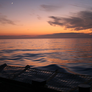 Sunrise from the flight deck of the HMCS