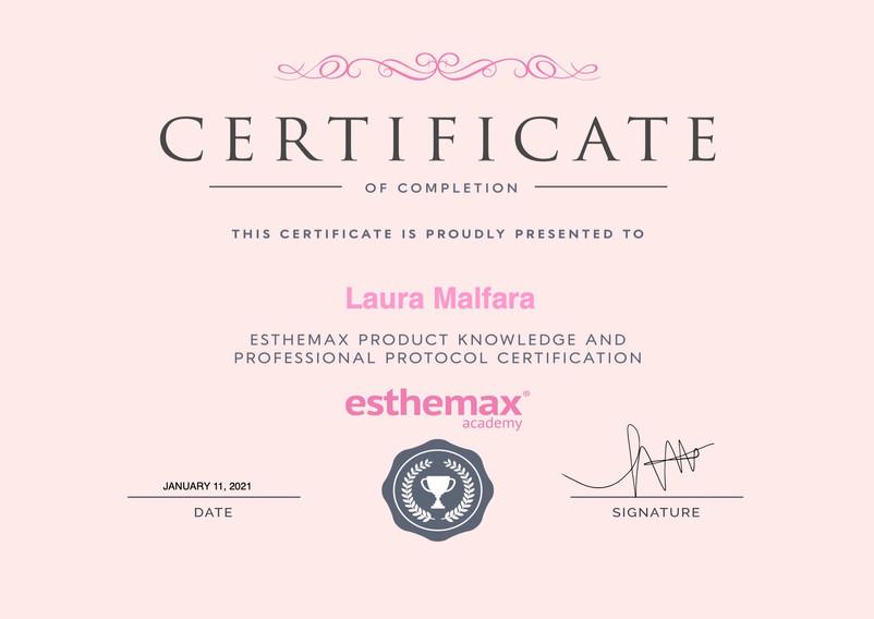 Esthemax Masterclass Certificate.jpeg