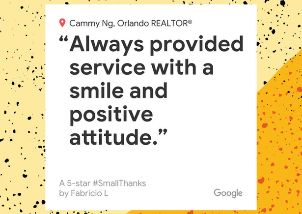 Cammy is a wonderful real estate agent, with great attention to detail, empathy and excellent customer service skills. She helped us find a house that we can now call our home. It was not an easy task, as we were looking for a 5-6 bedroom house, with no carpet, 3-4 bathrooms, screened in pool, and  pet friendly. Well, she came through with flying colors! she helped us find a beautiful 6 bed 4 bath house with no carpet and screened in pool in an amazing gated community. She was always very responsive to our calls, texts, and emails. Always provided service with a smile and positive attitude. Needless to say I recommend her to anyone that is in the market for a house. She is the best. Thank you Cammy!