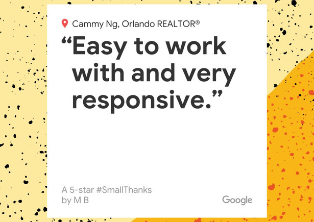 Cammy is the epitome of a professional realtor.   Fast in all responses and very thorough with factual, researched data on location, schools, neighborhood etc.  We searched for 3 weeks, made 2 offers and closed early on the 3rd property.  Easy to work with and very responsive. Exactly what is needed in this market.  We highly recommend Cammy to any residential buyer or seller.  Thank u Cammy!
