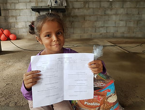 CC Sponsored Child with Report Card