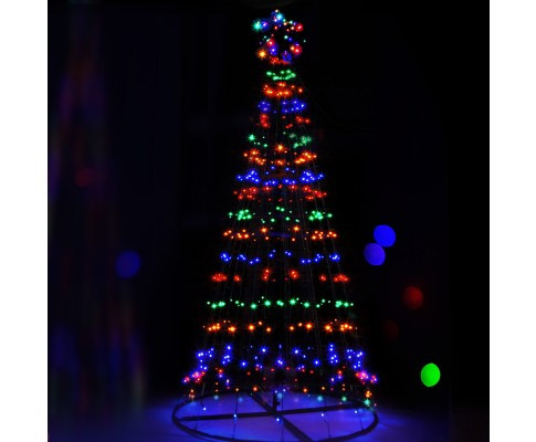 led solar powered christmas tree 21m 7ft - Solar Powered Christmas Tree