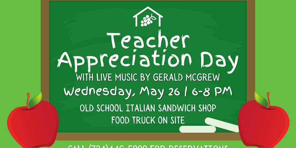 Party on the Patio: Teacher Appreciation Night