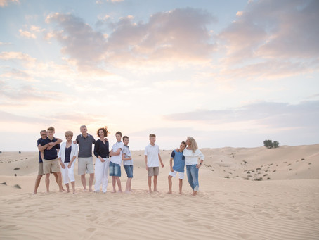 Desert Winters | Family Photoshoot | Dubai