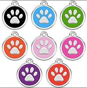 Placa Accesorio Para Mascota Huella