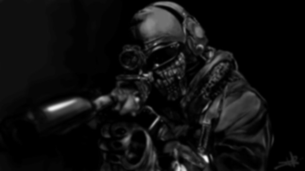black-video-games-monochrome-mask-Call-o