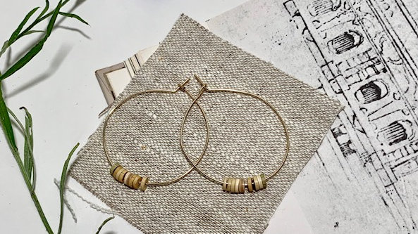 Ocean Hoop Earrings
