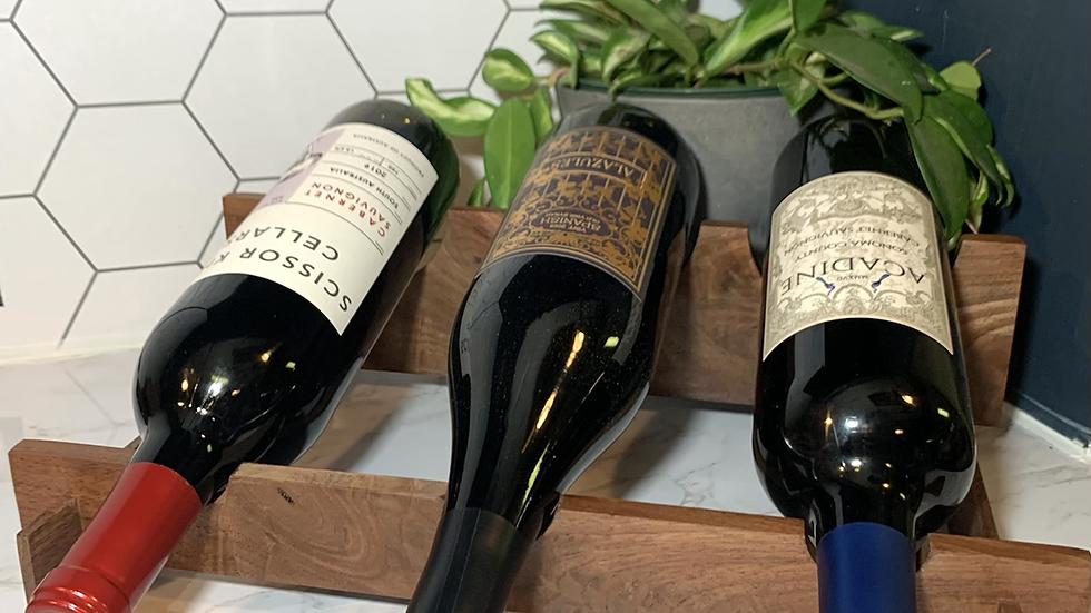 Walnut Wine Rack (3 Bottle)