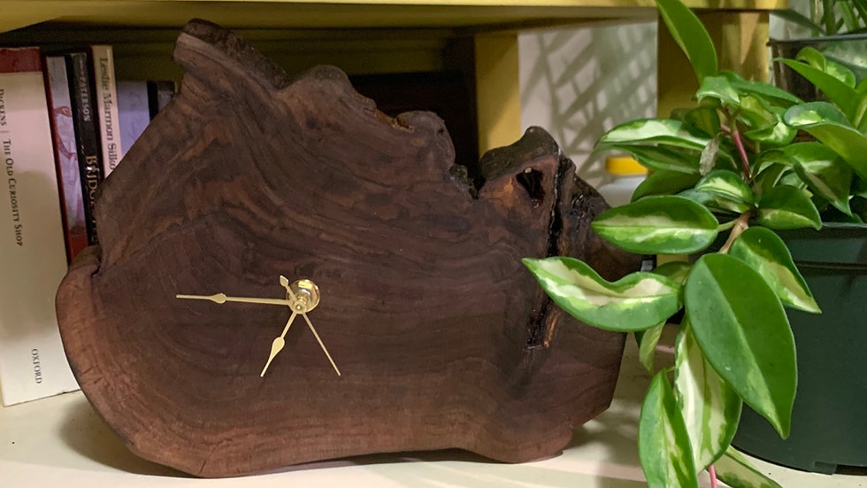 Black Walnut Clock