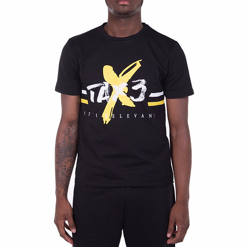 Its Relevant T-shirt - Black/Yellow