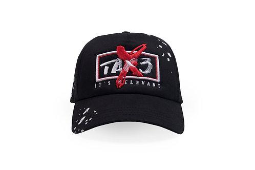 'Its Relevant' Mesh Trucker Cap - Black/Red