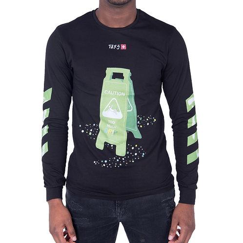 Caution TMD Long Sleeve T-shirt - Black/Neon Green