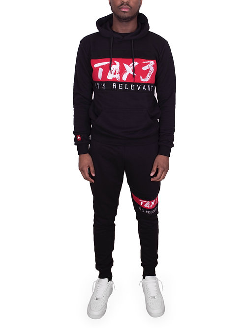It's Relevant 2.0 Tracksuit - Black/Red