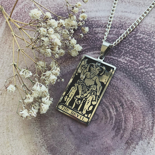 devil tarot necklace