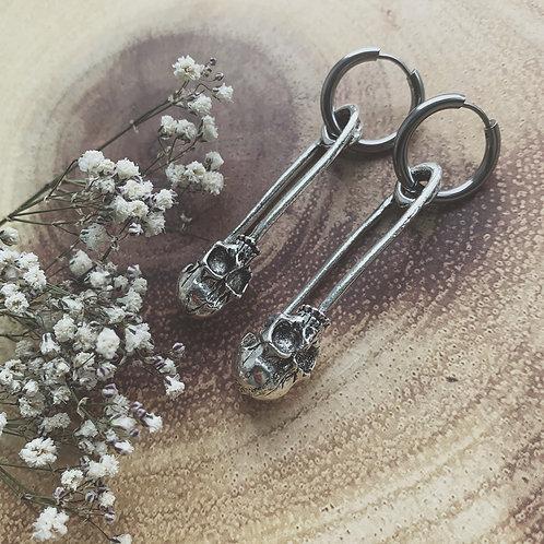 skull pin hoops