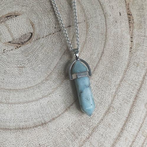 amazonite goddess necklace