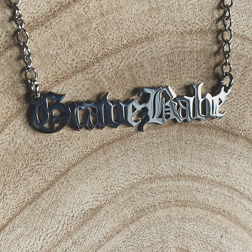 grave babe necklace