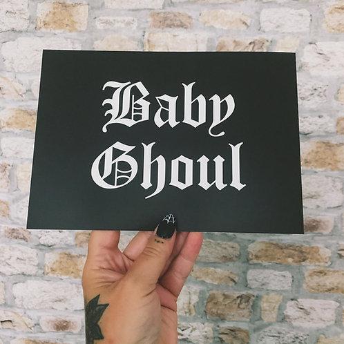 baby ghoul print