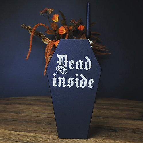 dead inside coffin plaque