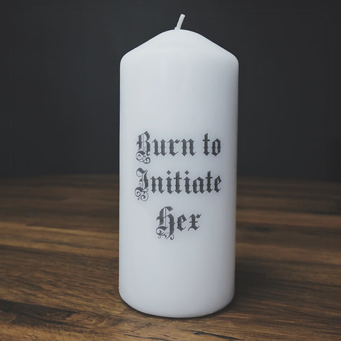 large hex candle