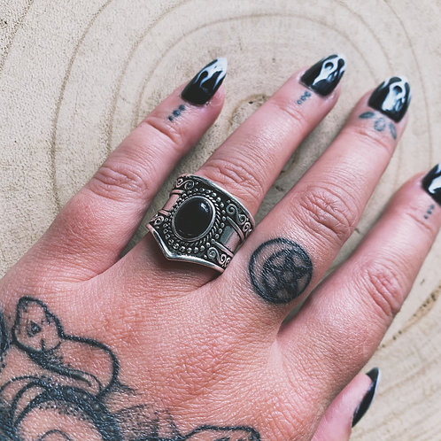 elodie black onyx ring