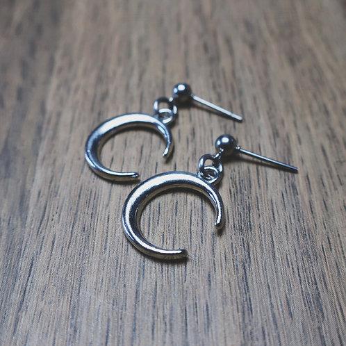 winter moon earrings