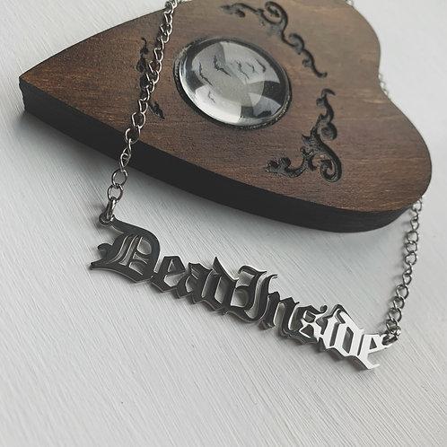 dead inside necklace