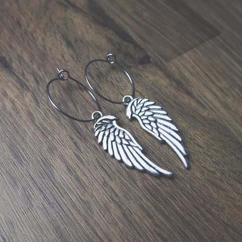 angel wing hoops