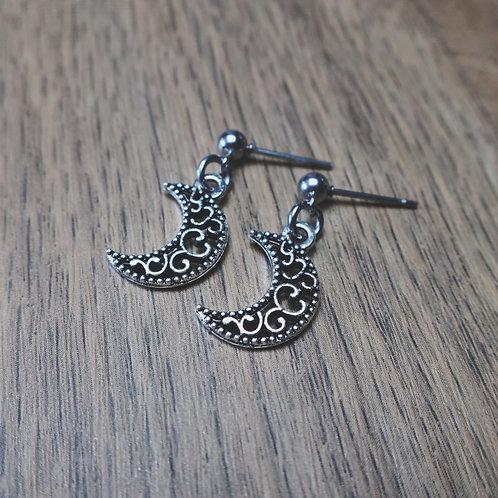 elegant moon earrings