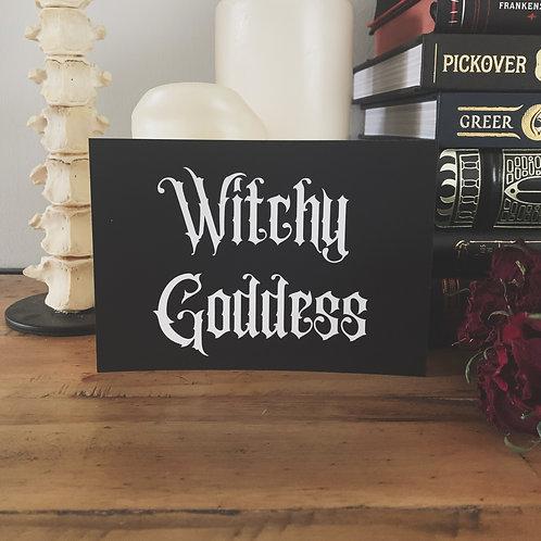 witchy goddess print