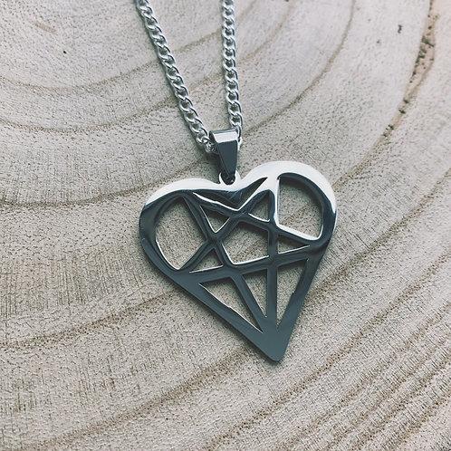 heartogram necklace