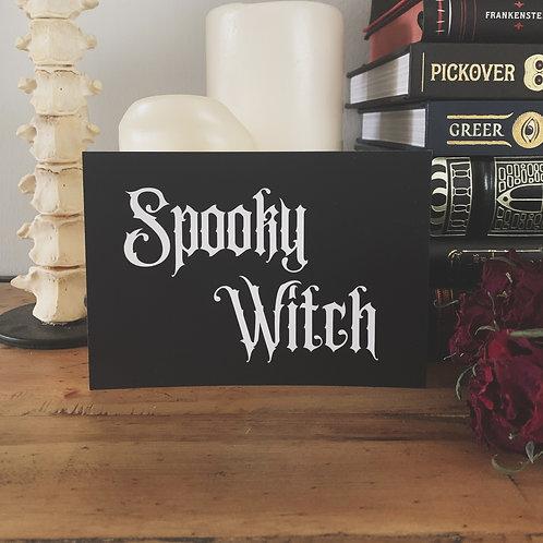 spooky witch print