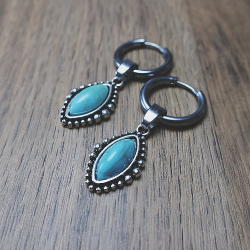naya turquoise hoops
