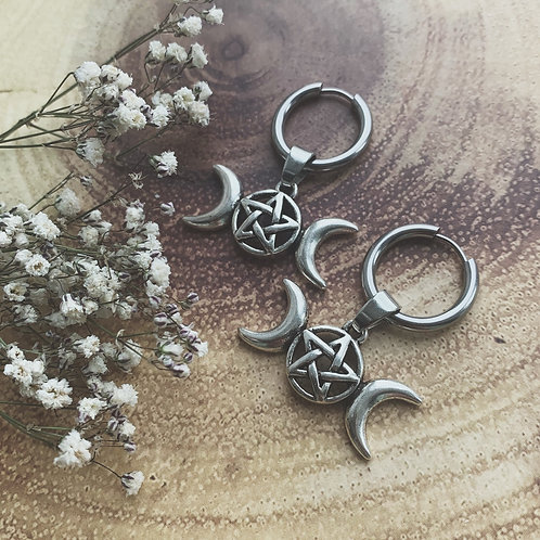 wiccan goddess hoops
