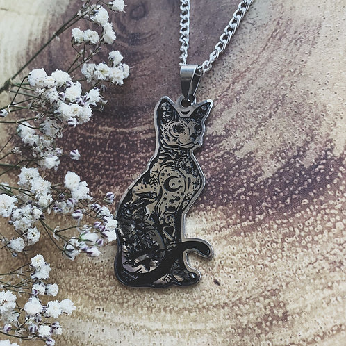 mystic kitty necklace