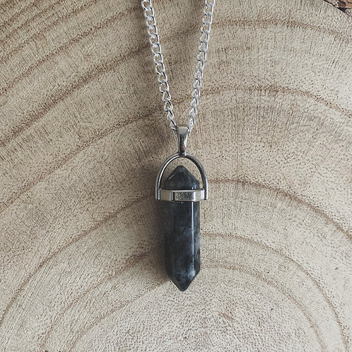 larvikite goddess necklace