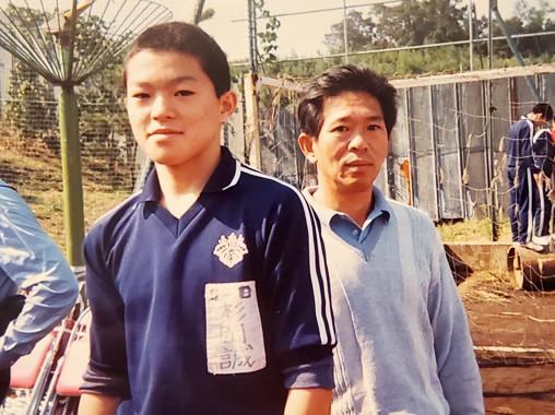 中学2年生 体育大会で父と