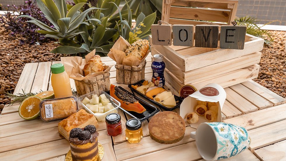 Caixa de café da manhã individual