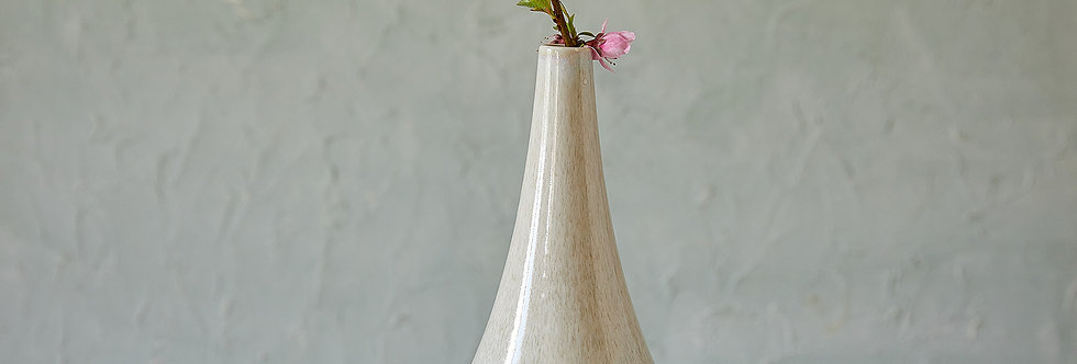 Stone and Gray Ceramic Vase, Minimalist Flower Vessel, Modern Pottery Bottle, Modern Home Decor, Unique Pottery Gift