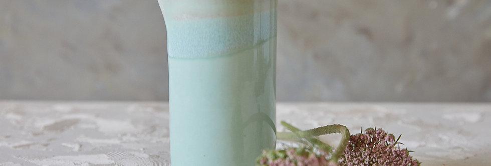 Modern Turquoise Ceramic Pitcher, Pottery Vessel, Stoneware Drinking Carafe, Ceramic Vase