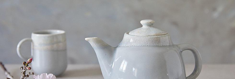 ALICE. Gray and Stone Ceramic Teapot, Classic Pottery, Handmade Designer Pottery