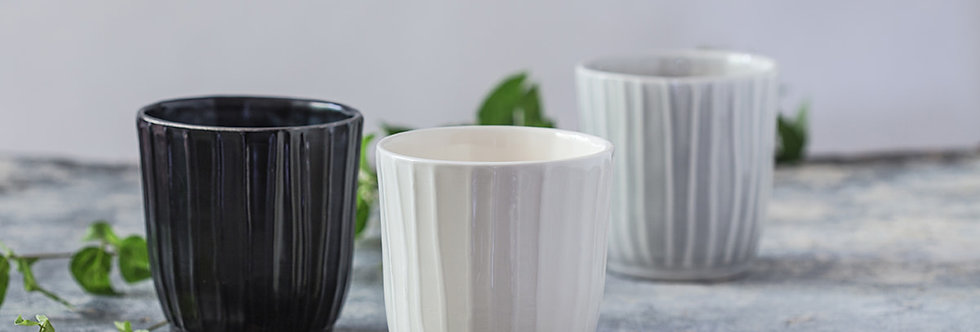 Ceramic Cups Set Of 2, Cappuccino Pottery Tumblers, Modern Pottery Gift, Latte Cups Set, Ceramic Teacup, Large Coffee Cup