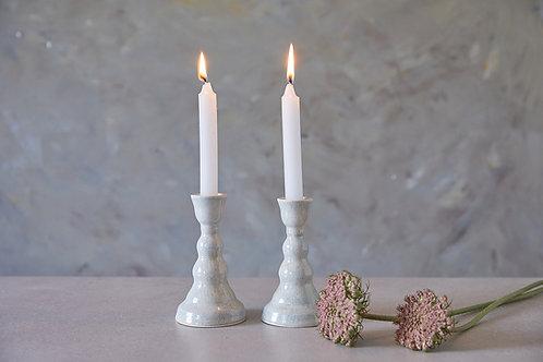 פמוטים מקרמיקה בעבודת יד, פמוטים בצבע אבן לנרות שבת, פמוטים אלגנטים