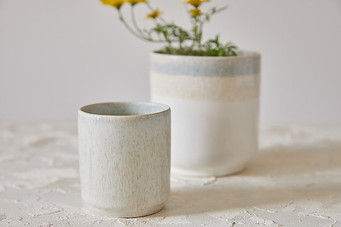 כוס לונגו מקרמיקה בעבודת יד, כוס אספרסו ארוך בצבע אבן, כוס לשתיה קרה, כוס מקרמיקה לתה