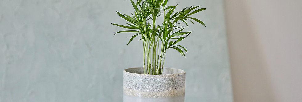 Gray and Stone Ceramic Planter, Indoor Modern Plant Holder, Pottery Pot, Home Planter, Succulent Planter
