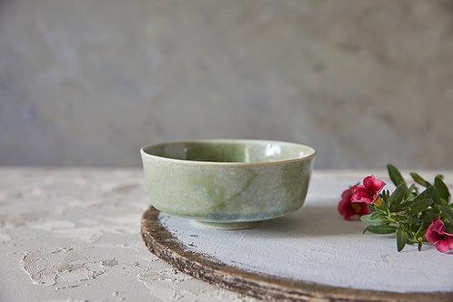 קערית בסגנון אסייתי, קערת קרמיקה בעבודת יד, קערית אורז ירוקה