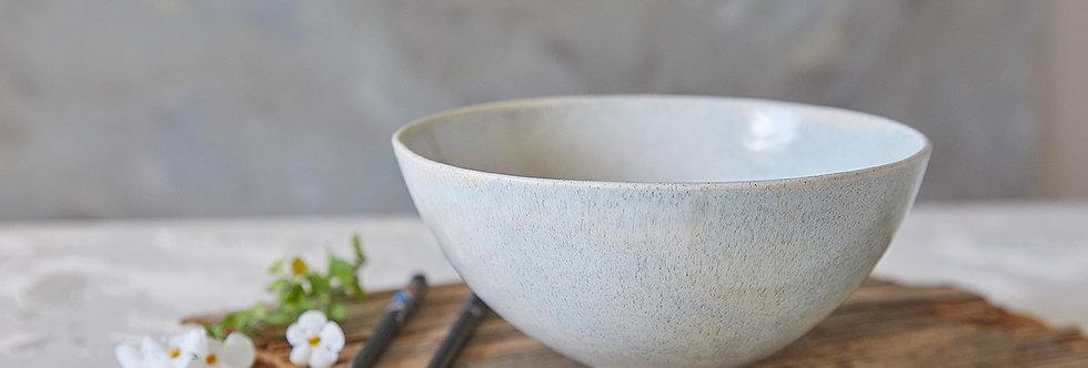 Ceramic Ramen Bowl, Stoney Glaze Pottery Bowl, Ceramic Serving Bowl, Salad Nesting Bowl